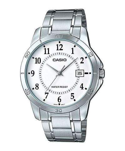 Casio MTP-V004D-7BUDF Silver Stainless Watch for Men
