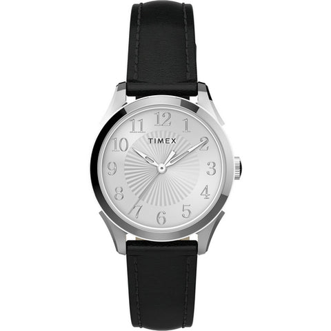 Timex Women's TW2T66600 Briarwood 28mm Black-Silver Watch