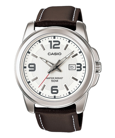Casio Enticer Men Analog Silver Dial Men's Watch - MTP-1314L-7AVDF