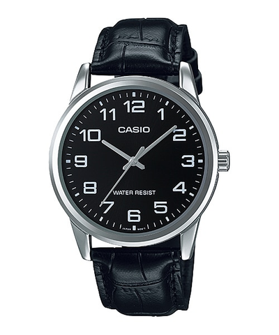 Casio Watch MTP-V001L-1BUDF Leather Band