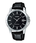 Casio Men's MTP-V004L-1AUDF Date Quartz Watch with Genuine Leather