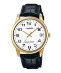 Casio Men Japanese Quartz Watch with Leather Strap MTP-V001GL-7BUDF