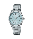 Casio LTP-V005D-2B Women's Standard Stainless Steel Blue Dial 3-Hand Analog Watch