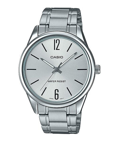 Casio MTP-V005D-7B Men's Standard Stainless Steel Silver Dial Analog Watch