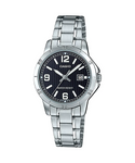 Casio Timepieces Silver Stainless Steel Women Watch LTP-V004D-1B2UDF