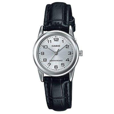 Casio LTP-V001L-7BUDF Black Leather Watch for Women