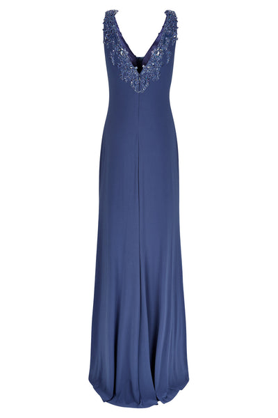10310 - Petrol Blue Evening Dress