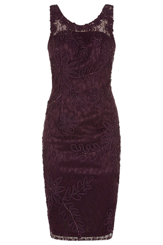 10286 - Aubergine Cocktail Dress