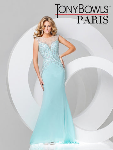 Tony Bowls Silver Evening Gown - 115722