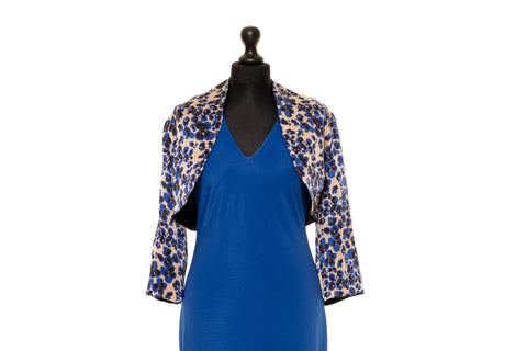 Chloe - Multicoloured Blue Reversible Silk Jacket