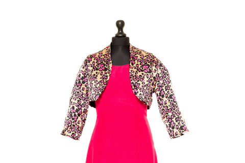Chloe - Multicoloured Pink Reversible Silk Jacket