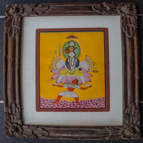 Panchmukhi Shiva-Antique Frame