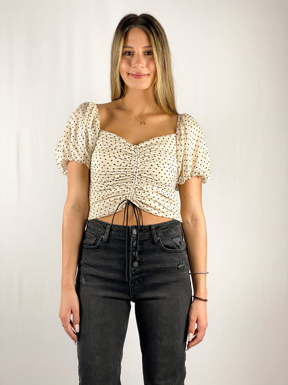 Flirt Puff Polka Dot Top
