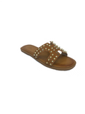 Lisa Studded Sandals / Tan