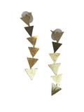 Triangle Drop Down Earrings