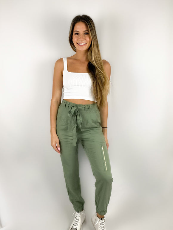 Bow Tie Joggers / Green