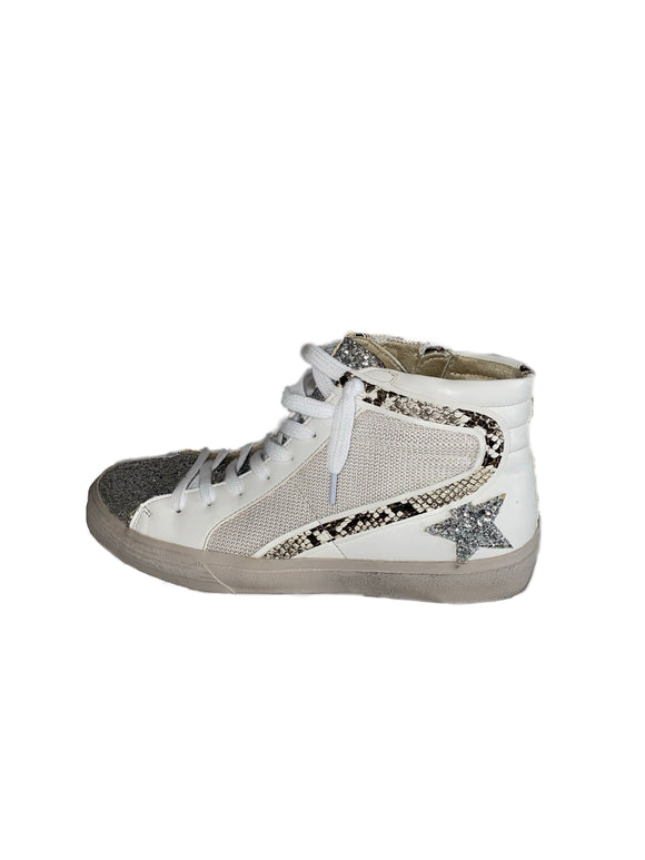 More Glitter High Top Sneakers