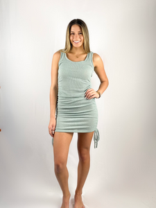 Brooke Tie Up Mini Dress / Mint