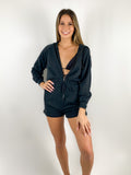 L*SPACE Black Coverup Romper