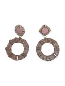 Perfect Pink Circle Earrings