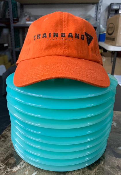Chainbang - Orange-ish Curved Bill Hat