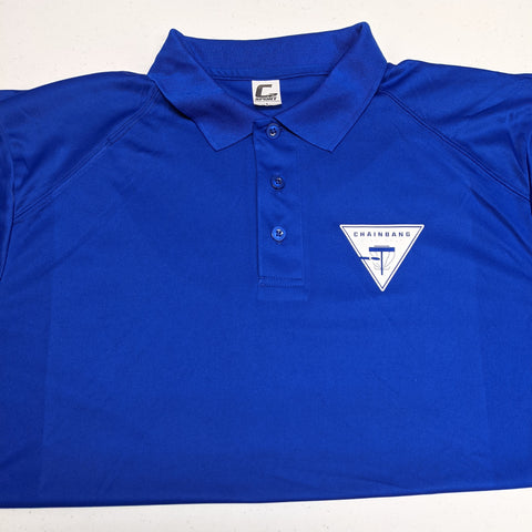 Chainbang - Blue 'Chainbang Bar Logo' Dri-Fit Polo