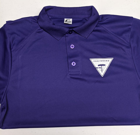 Chainbang - Purple 'Chainbang Bar Logo' Dri-Fit Polo