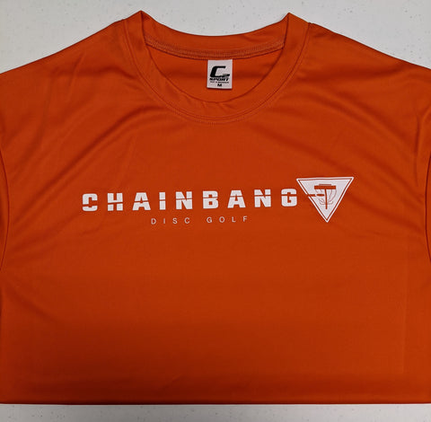 Chainbang - Orange 'Chainbang Bar Logo' Dri-Fit Shirt