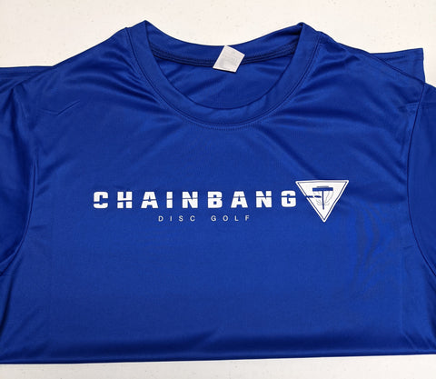 Chainbang - Blue 'Chainbang Bar Logo' Dri-Fit Shirt