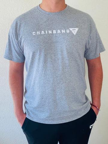 Chainbang - Athletic Heather 'Chainbang Bar Logo' Shirt
