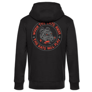 """The Rats Will Play"" zip hoodie (black)"