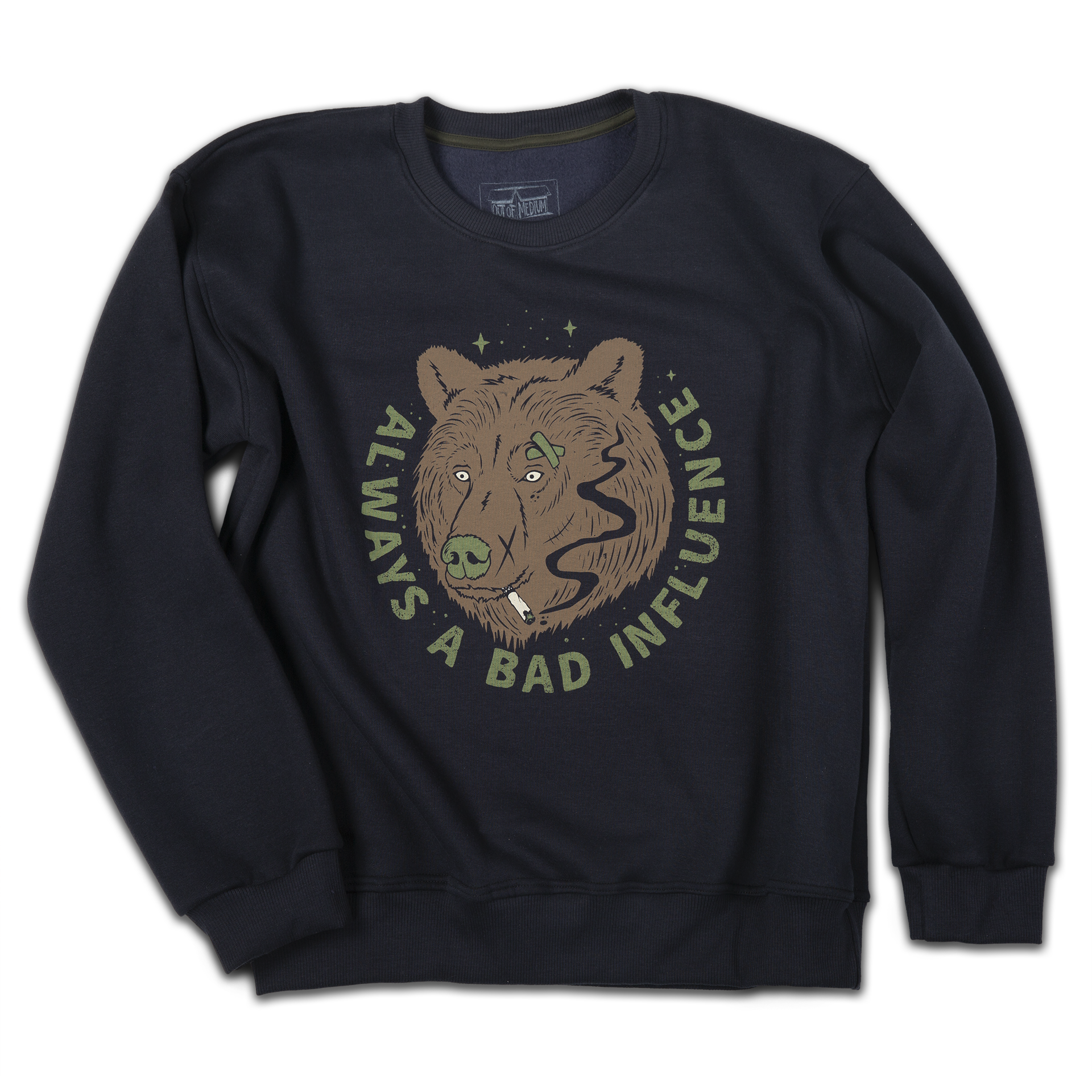 """Bad Bear"" crewneck (marine blue) - Out of Medium"