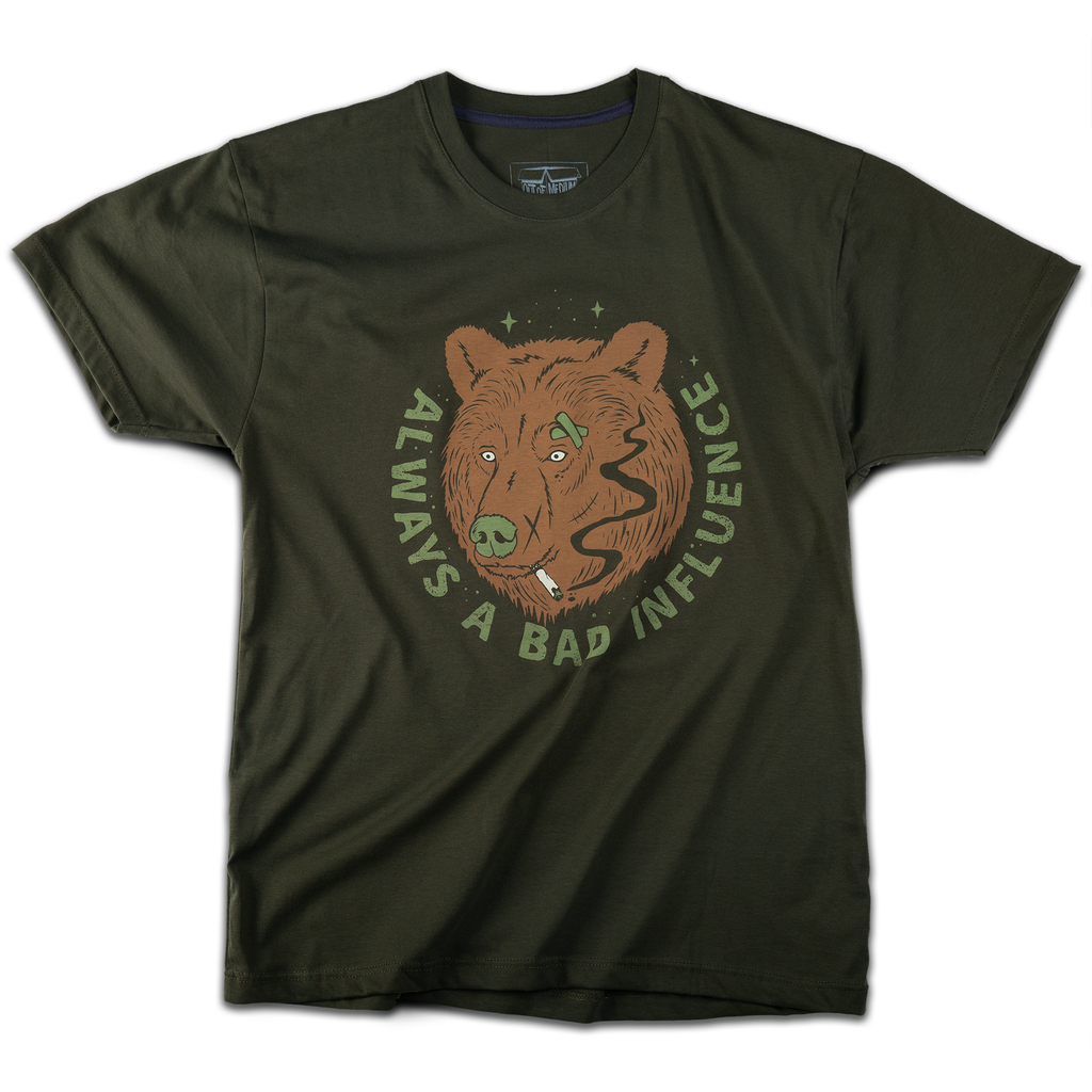 """Bad Bear"" t-shirt (khaki) - Out of Medium"