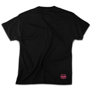 """Satancat"" t-shirt (black-pink) - Out of Medium"