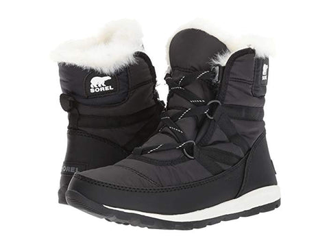 Sorel Whitney Black Short Lace Boot