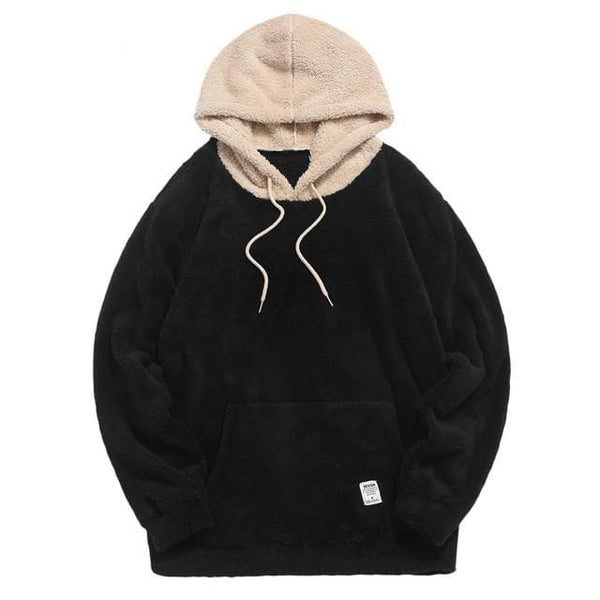 Two Tone Fluffy Hoodie