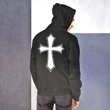 Load image into Gallery viewer, Commandments Christian Hoodie for Women & Men w/ Celtic Cross on Back, Assorted Colors w/ White Print, Jesus Hoodie w/ Commandments, Christian Clothing Hoody for Woman or Man