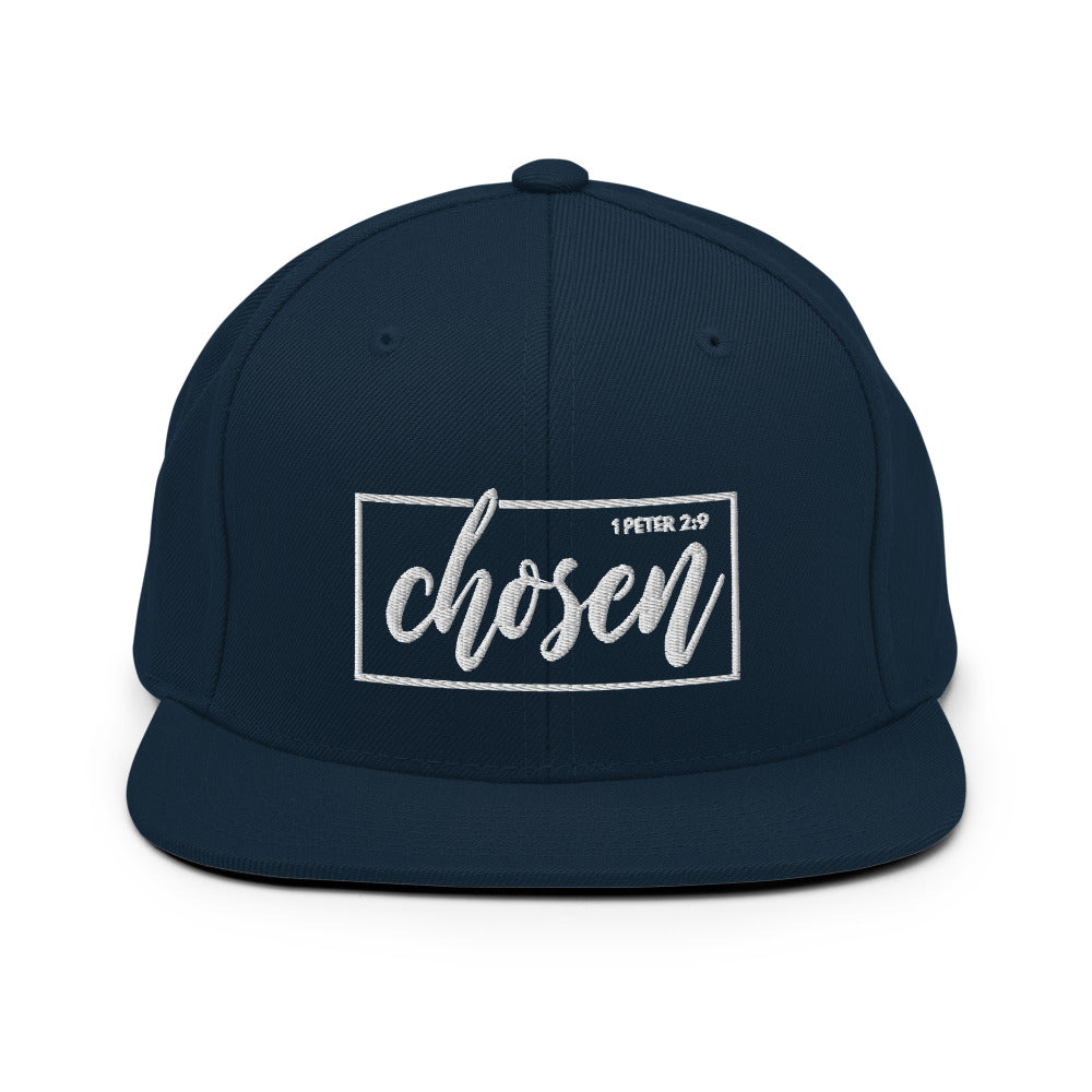 Chosen 1 Peter 2:9 Christian Baseball Hat in Dark Navy or Maroon w/ White 3D Puff Lettering, Religious Apparel, Christian Gifts