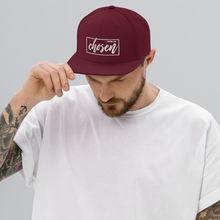 Load image into Gallery viewer, Chosen 1 Peter 2:9 Christian Baseball Hat in Dark Navy or Maroon w/ White 3D Puff Lettering, Religious Apparel, Christian Gifts