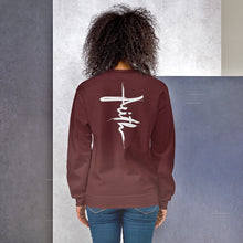 Load image into Gallery viewer, Product of Christ Christian Sweatshirt for Women & Men. in Assorted Colors with Faith Christian Cross on the Back, Christian Clothing, Jesus Sweaters