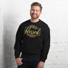 Load image into Gallery viewer, Blessed Black Christian Sweatshirt for Men & Women, Proverbs 16:20, Christian Clothing, Religious Gifts, Faith Apparel