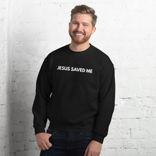 Load image into Gallery viewer, Jesus Saved Me Sweatshirt for Women & Men, Jesus Sweater in Red, Black, Navy or Maroon w/ White Lettering, Christian Clothing for Women, Jesus Sweater