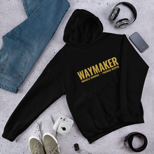 Load image into Gallery viewer, Waymaker Christian Hoodie in Black w/ Gold Lettering, Hoody for Men & Women, Christian Gifts, Religious Apparel, Clothing