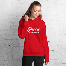 Load image into Gallery viewer, Jesus Is In My Heart Christian Hoodies in Assorted Colors w/ White Lettering, Hoody for Men & Women, Christian Gifts, Apparel