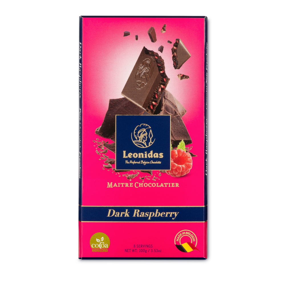 Load image into Gallery viewer, Dark Raspberry Chocolate Bar, 100g