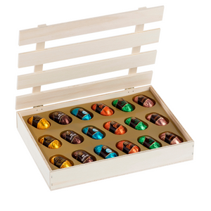 Wooden Box of Liqueur Chocolates, 240g