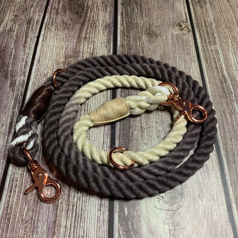 Chocolate Lavender Ombre Adjustable Rope Lead