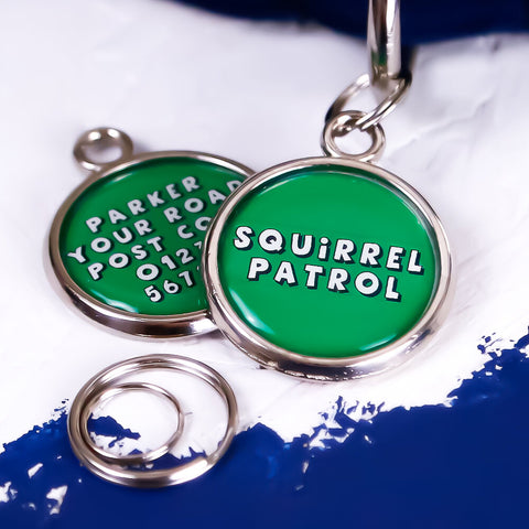 Squirrel Patrol Pet Tag