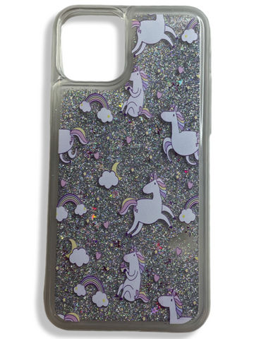 Daydreams and Unicorns glitter phone case