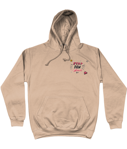 Stay Paw-sitive embroidered hoodie